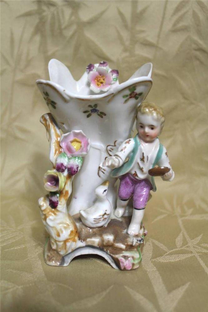 "Vintage Victorian Porcelain Vase 6"" tall #Victorian #CamilleNaudot"