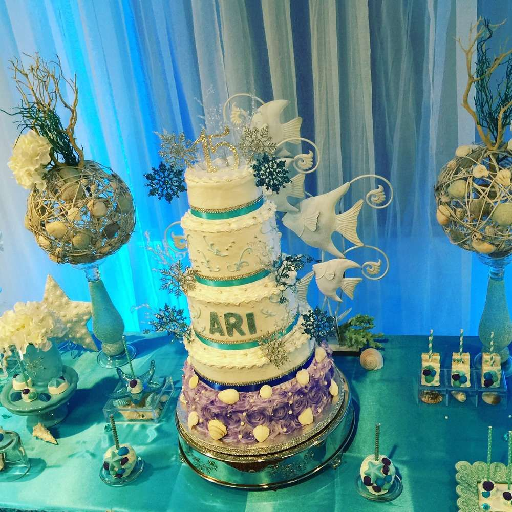 Winter And Under The Sea Quinceanera Party Ideas Quinceanera
