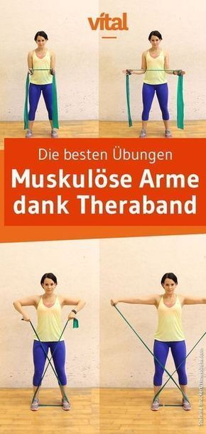 Theraband exercises for the arms -  Defined arms thanks to Theraband – discover the best exercises!...