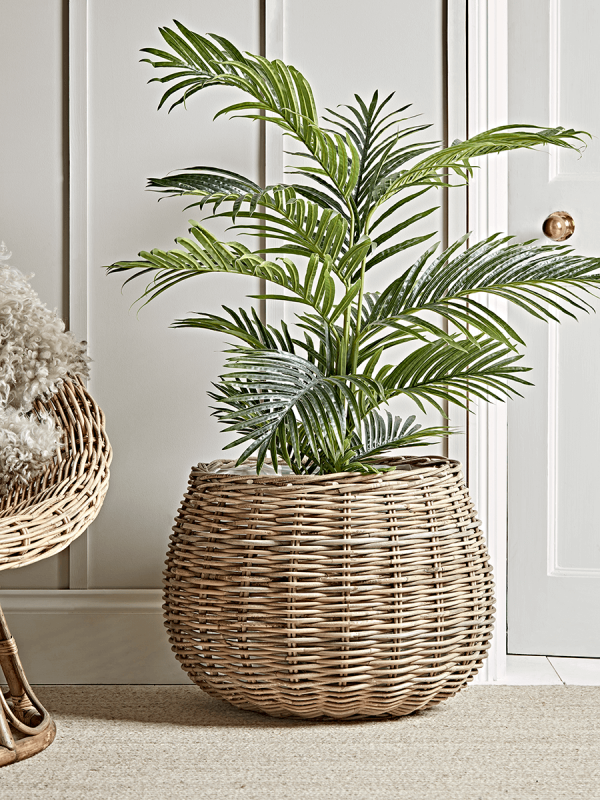 New Round Rattan Indoor Planter Storage Furniture Drawers Ladders Shelves Storage Furniture Sol Indoor Flower Pots Indoor Plant Pots Indoor Planters