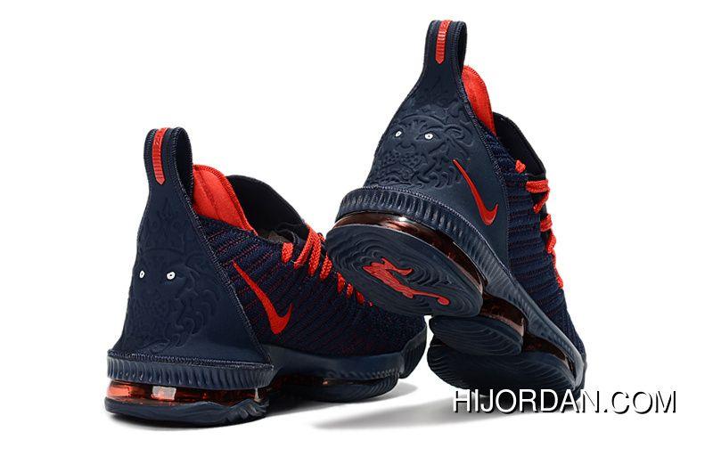 ebd0498d31b Nike LeBron 16 Black Red Laces Women Men Battle Shoes Free Shipping