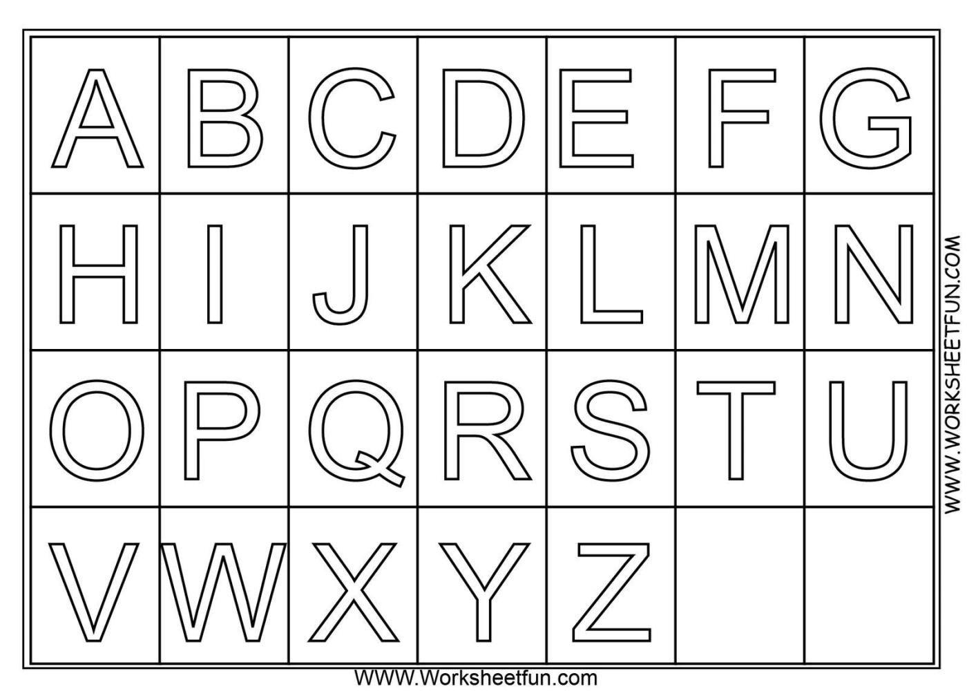 Alphabet Exercises For Kindergarten