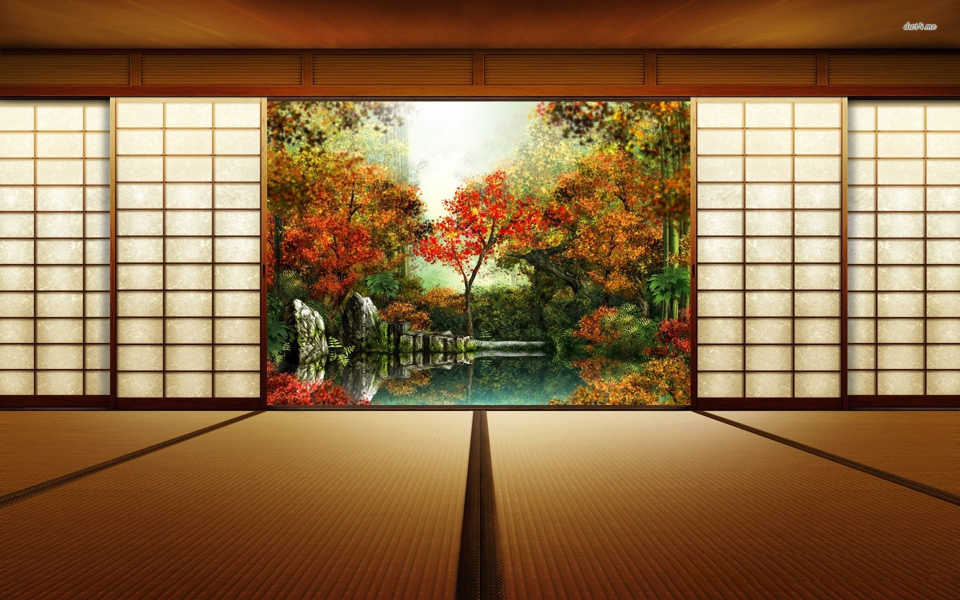 Japanese Room Wallpaper Wallpapers Pinterest