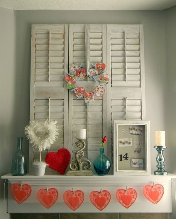 20 Gorgeous Valentineu0027s Day Mantel Décor Ideas Ideas