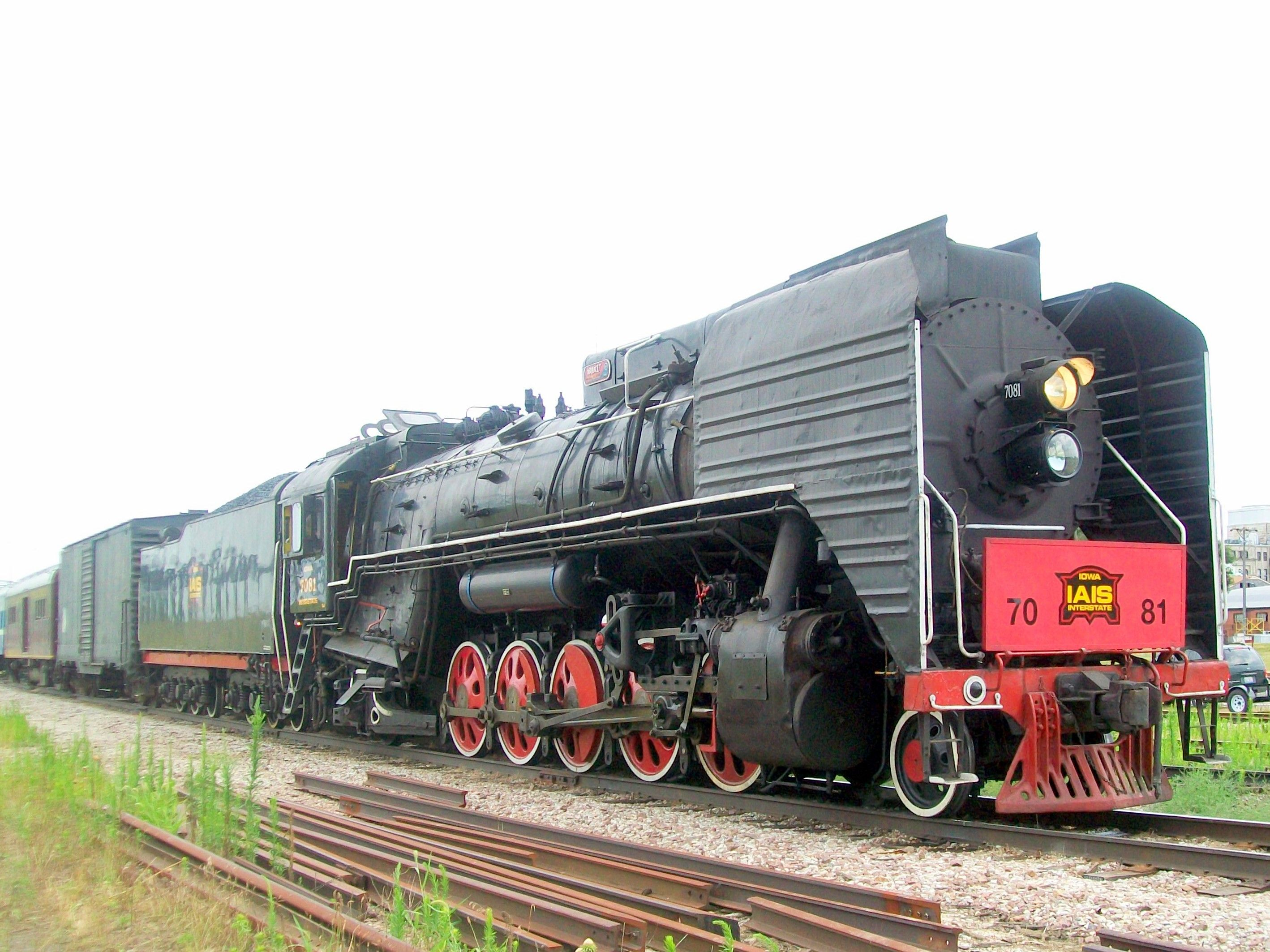Chinese made steam locomotive on Iowa Interstate railroad