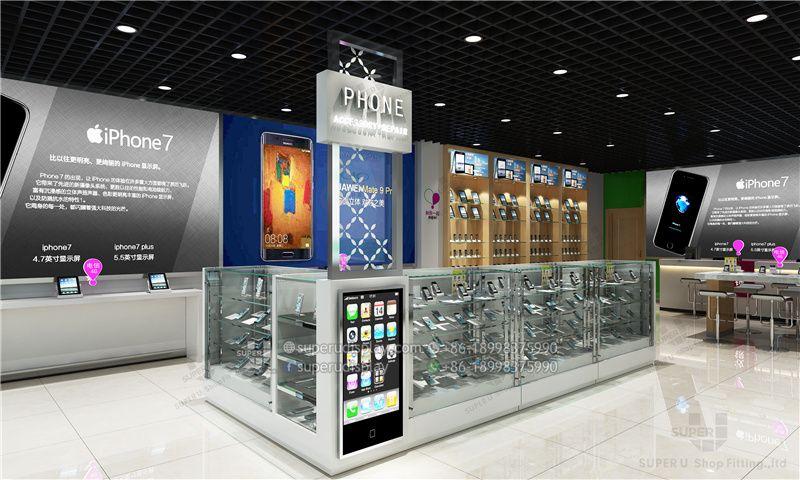 Gabinete De Vidrio Templado Para Accesorios De Telefonos Moviles
