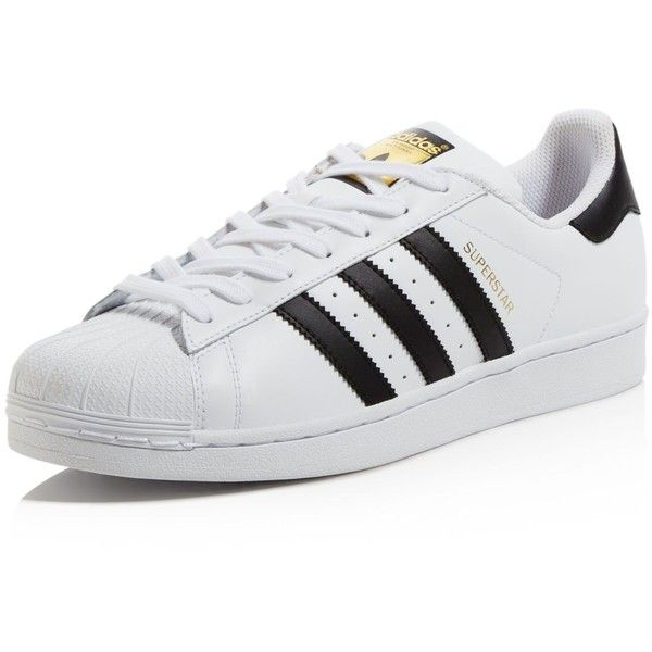 Adidas Womens Superstar in White & Blue ($80) ❤ liked on