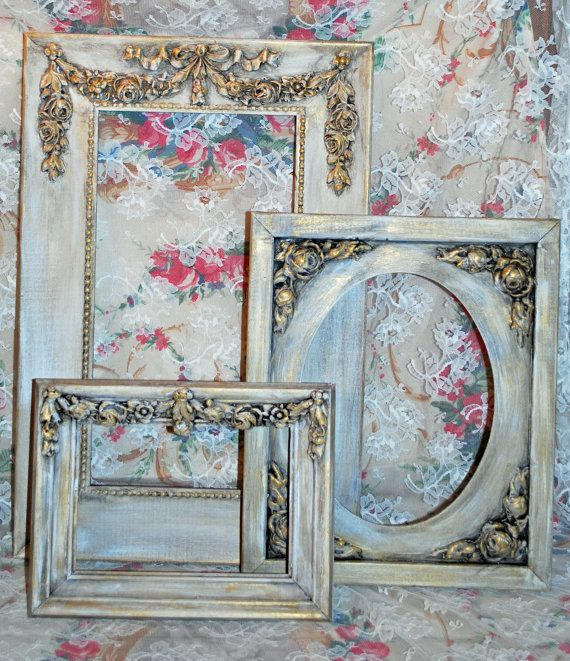 Lot of 3 Open Gallery Frames Romantic Chic by CrabappleLane