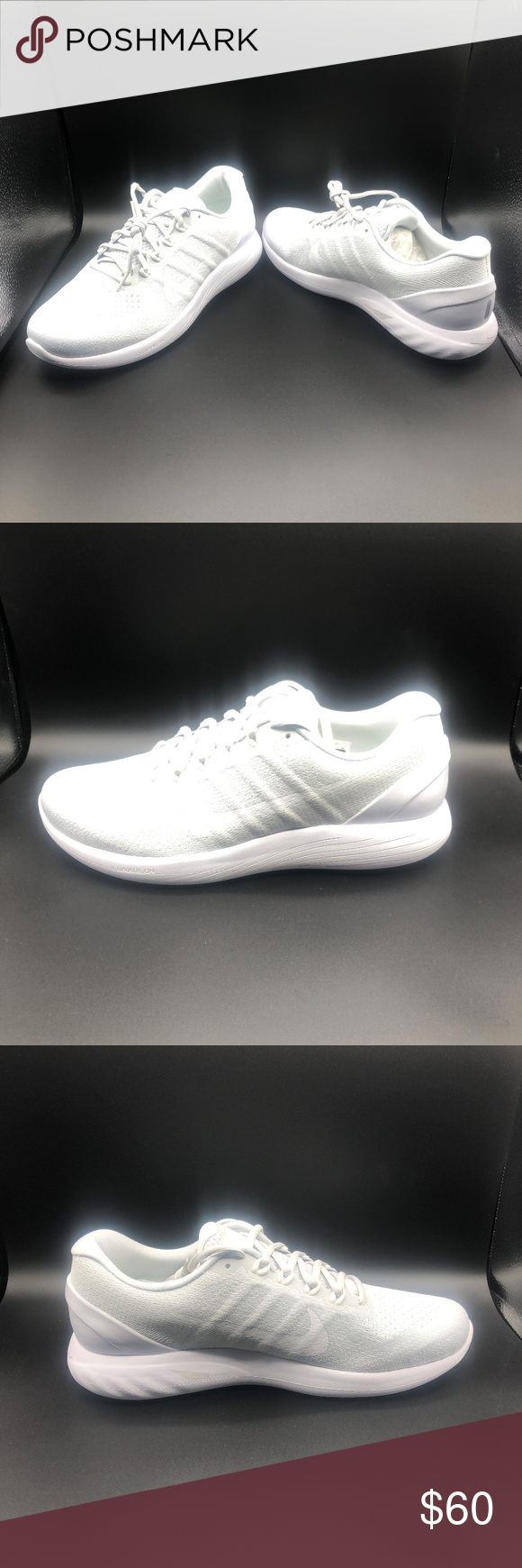 137b2ba94476 Men s Nike Lunarglide 9 Pure Platinum White Men s Nike Lunarglide 9 Pure  Platinum White Running Shoes