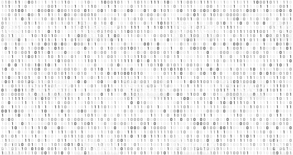 Binary Matrix Code Computer Data Stream Digital Security Codes And Vector Background Coding Business Card Texture