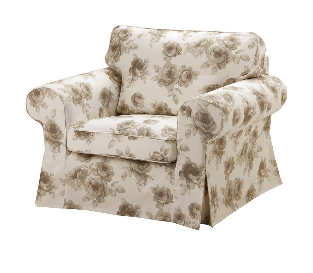 IKEA Ektorp Chair Slipcover Norlida Floral Chair Cover