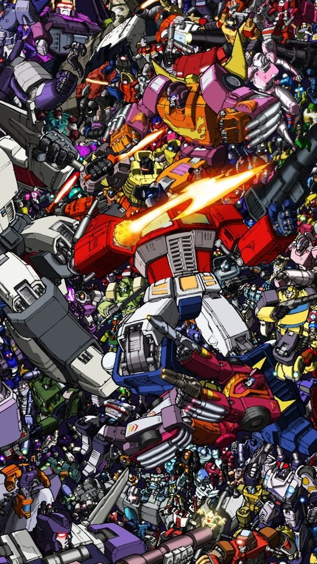 Transformers Collage Iphone 5s Wallpaper Download Iphone Wallpapers Ipad Wallpapers One Stop Do Transformers Canvas Cartoon Wallpaper Transformers Artwork