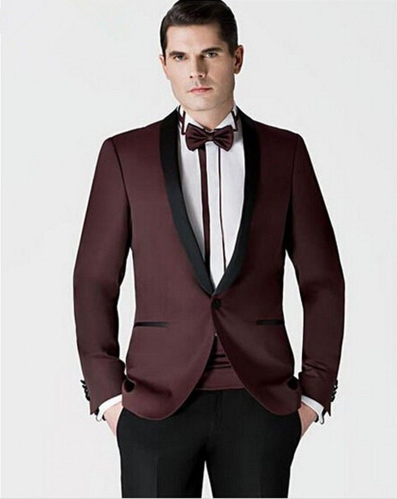 Click to Buy << High Quality Men\'s Dinner Party Prom Suits Groom ...