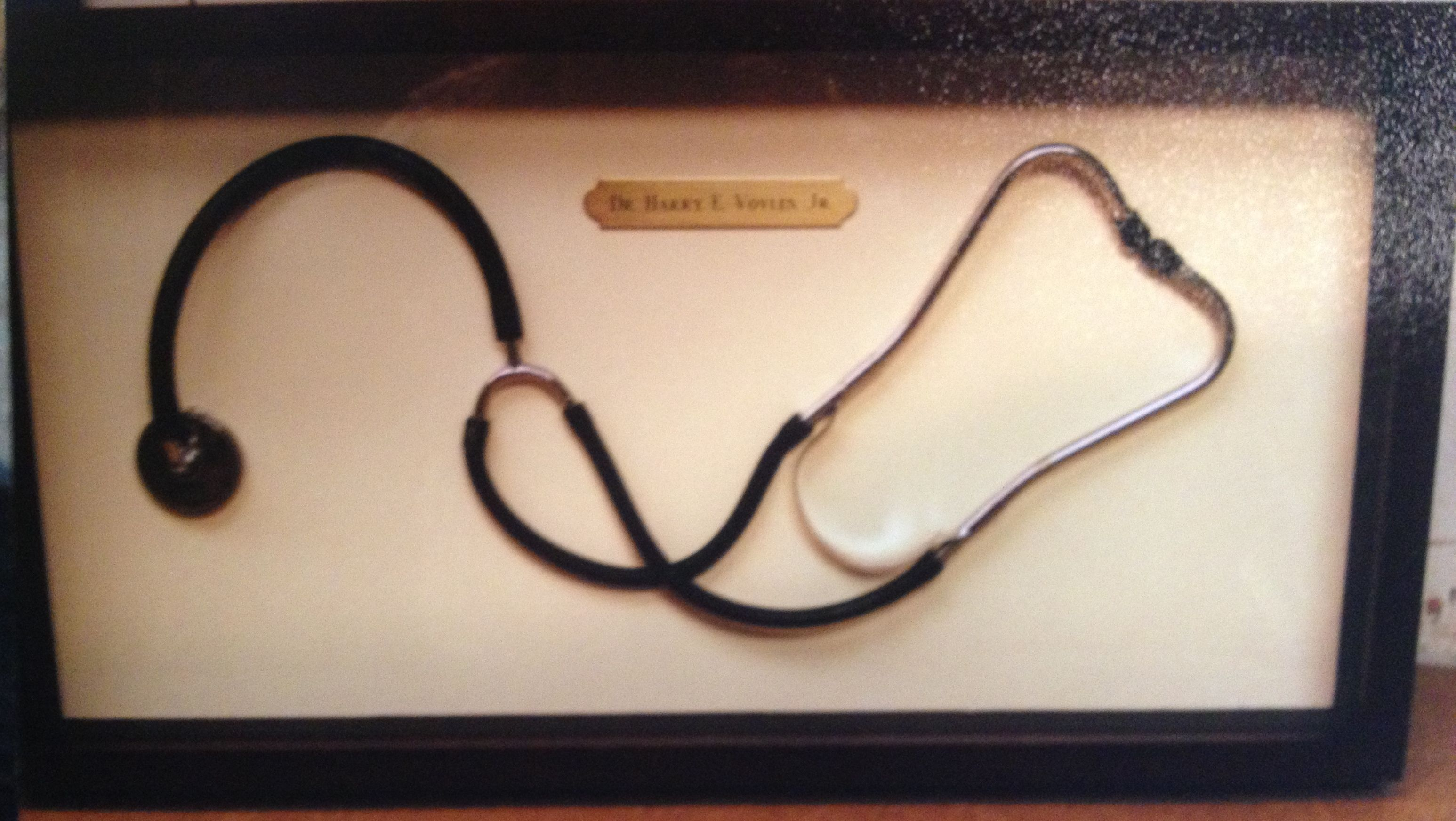 Doctors stethoscope shadow box framing home pinterest doctors stethoscope shadow box framing jeuxipadfo Image collections