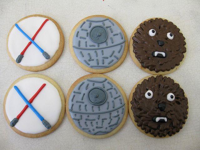 star wars cookies Star wars cookies Star and Sugar cookies