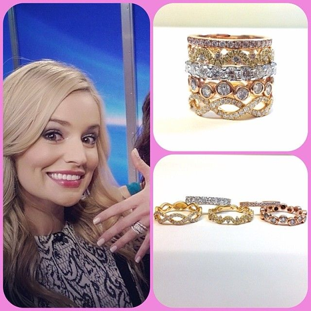 Charmant Newly Engaged Emily Maynard Wears 5 Different Stackable Engagement Rings.  #thebachelorette #emilymaynard #