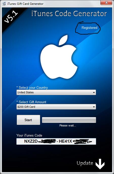 itunes code generator mac zip