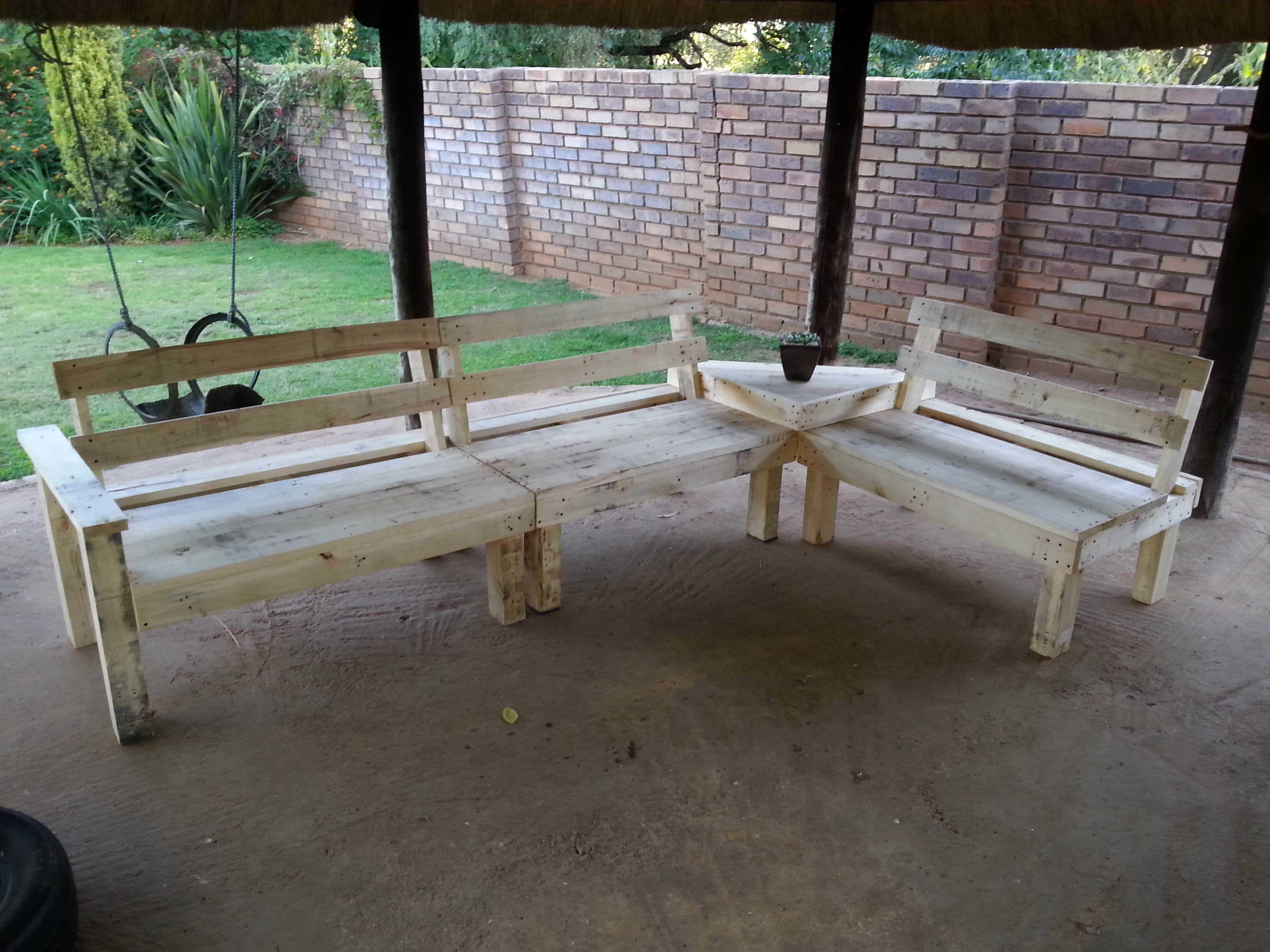 Amazing Pallet Lounge With Coffee Table My first try at pallet furniture's, an