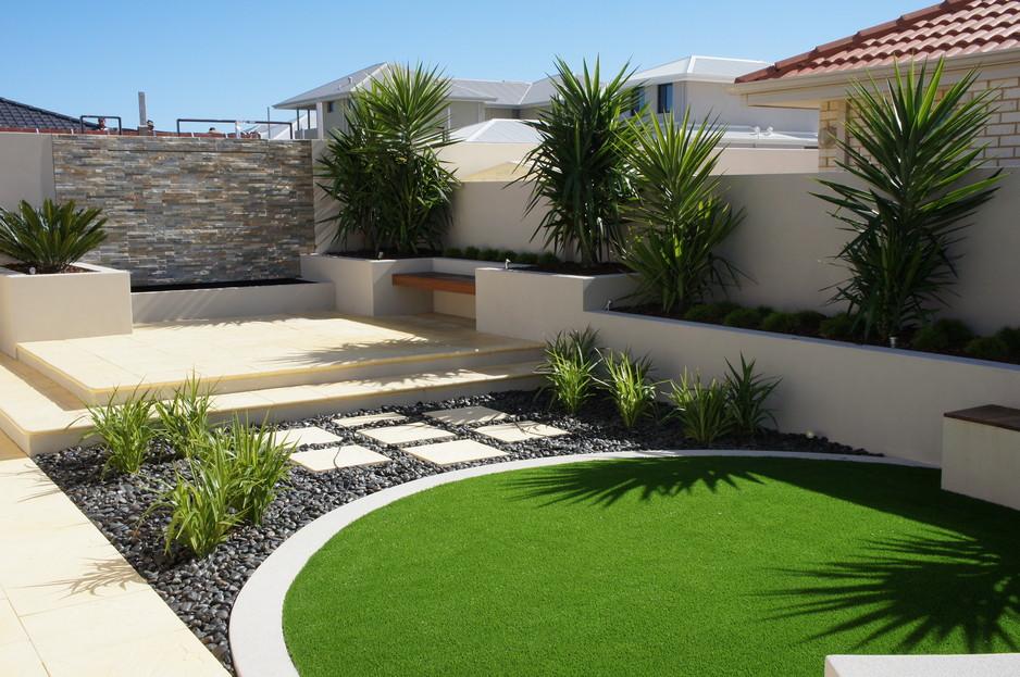 4 Basic Modern Residential Landscape Design in 2020 ...