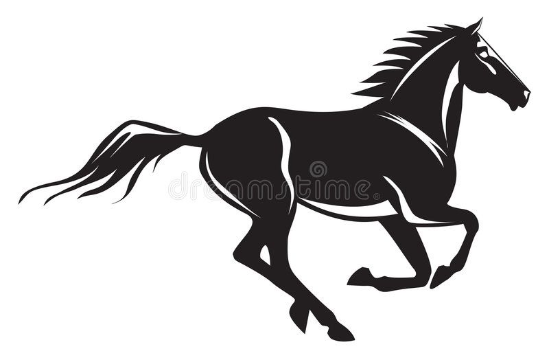 DECALS STICKERS 2 X  GALLOPING HORSES TRAILER WALL CAR ANY FLAT SURFACE