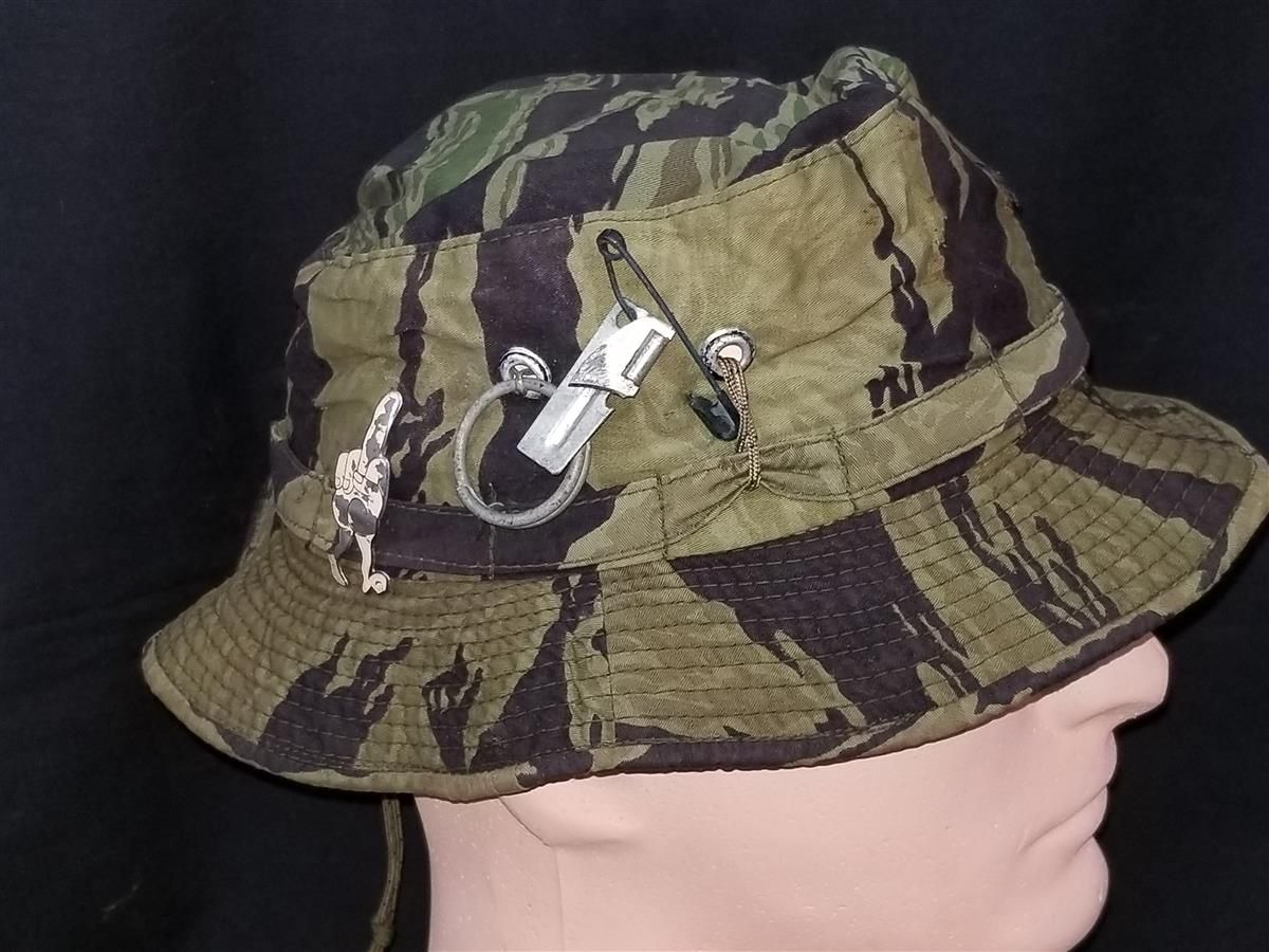detailed pictures ff665 03aac Vietnam War US Navy Swift Boat sailor Billy P. Carwile...His Vietnam Tiger  Stripe Boonie Hat and Vietnamese made insignia worn In Country