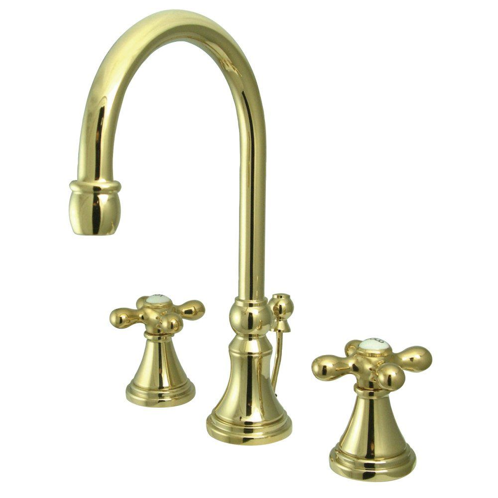 KS2982AX Widespread Lavatory Faucet With Brass Pop-Up, Polished ...