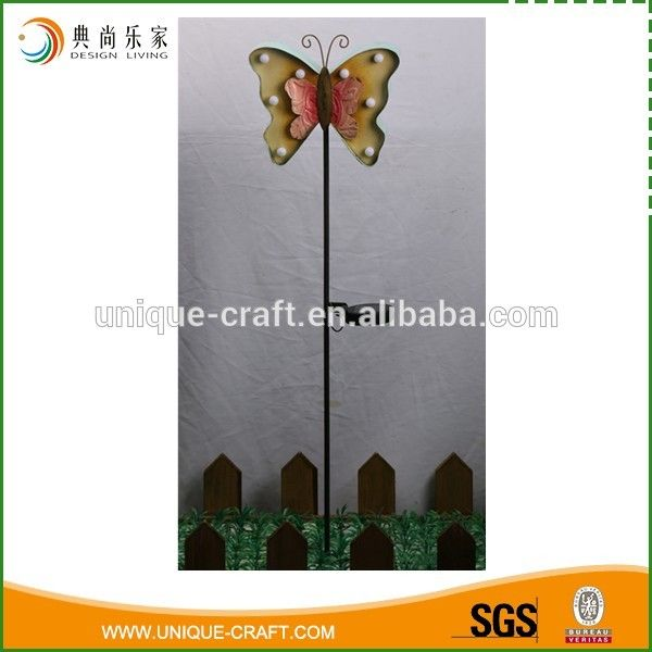 Antique Solar Powered Metal Butterfly Decorative Garden Stake   Buy  Butterfly Decorative Metal Garden Stake,Antique Decorative Metal Garden  Stake,Solar ...