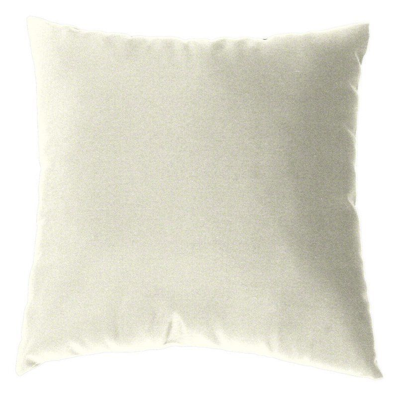 Cushion Source 17 x 17 in. Solid Sunbrella Indoor / Outdoor Throw Pillow Natural - E63AI-5404