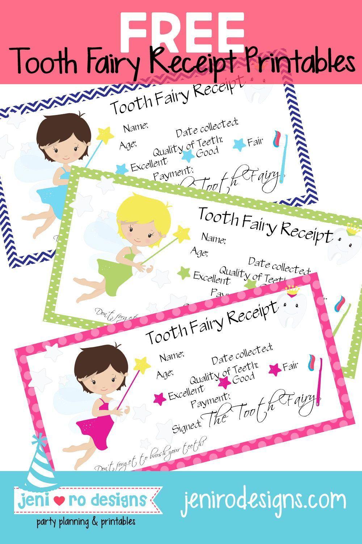 Free Tooth Fairy Receipt Printable Tooth Fairy Receipt Printable Tooth Fairy Receipt Fun Printables