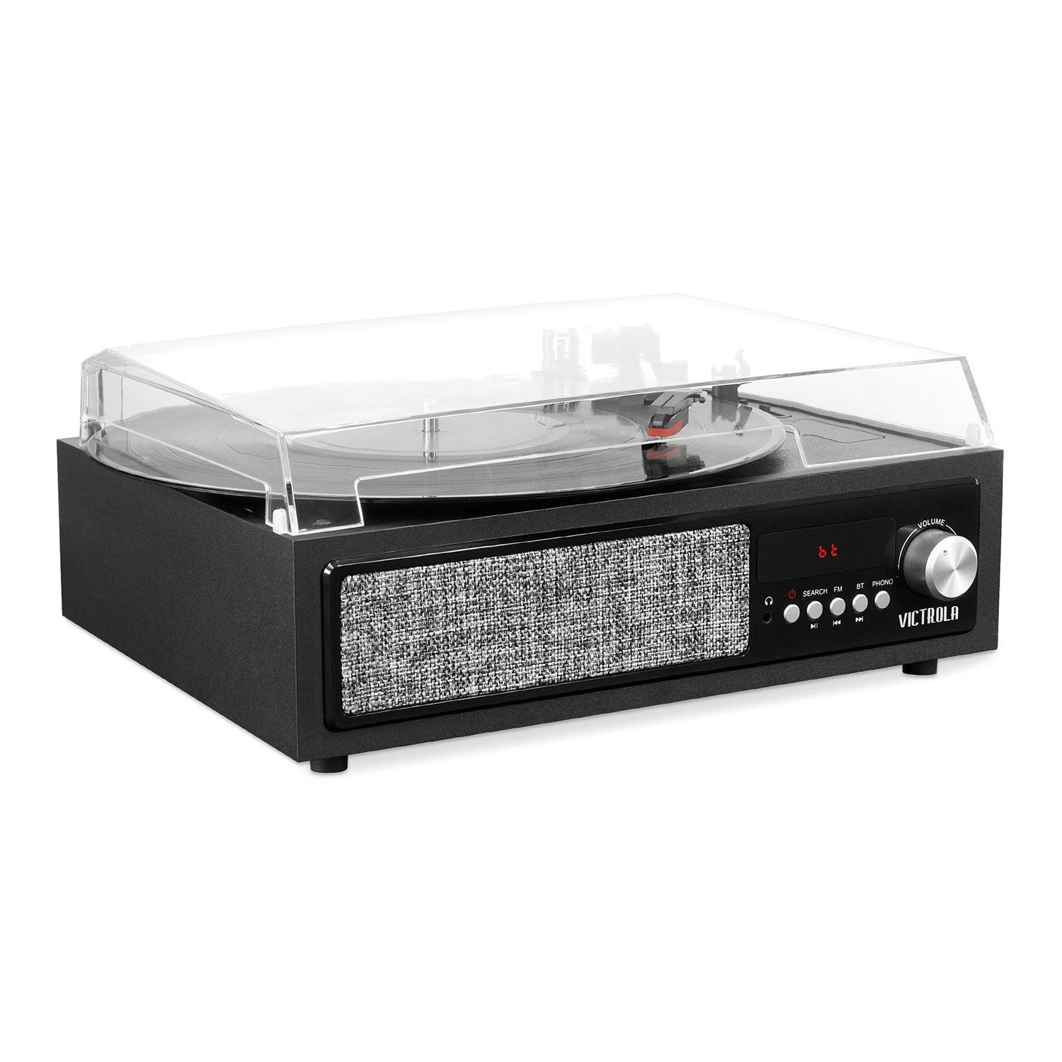 Victrola 3 In 1 Bluetooth Record Player With Built In Speakers Bluetooth Record Player Built In Speakers Record Player