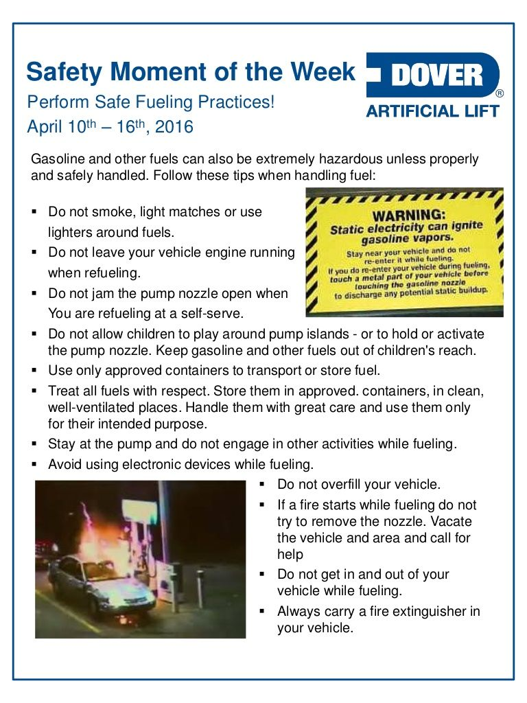 Perform Safe Fueling Practices! Alberta Oil Tool's Safety