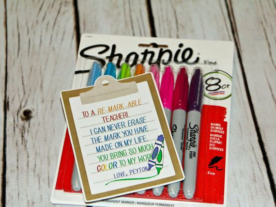 Teacher Thank You gift - Personalized - To a Re-MARK-able ...
