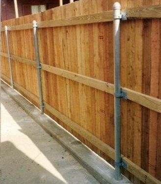 Using Posts From A Chainlink Fence To Create A Wood Privacy Fence