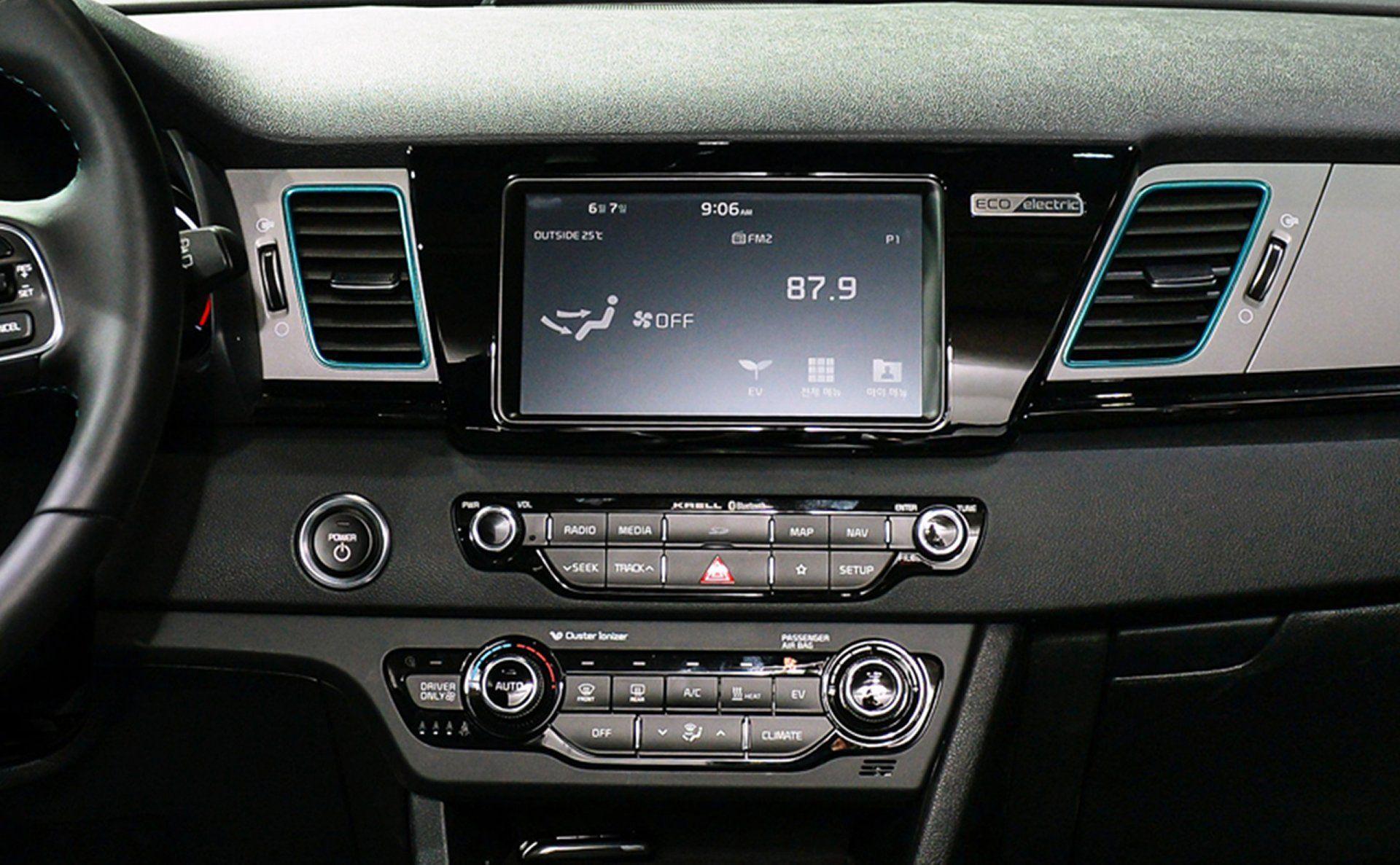 2019 Niro Ev Interior System Kia Driving Test Infotainment System