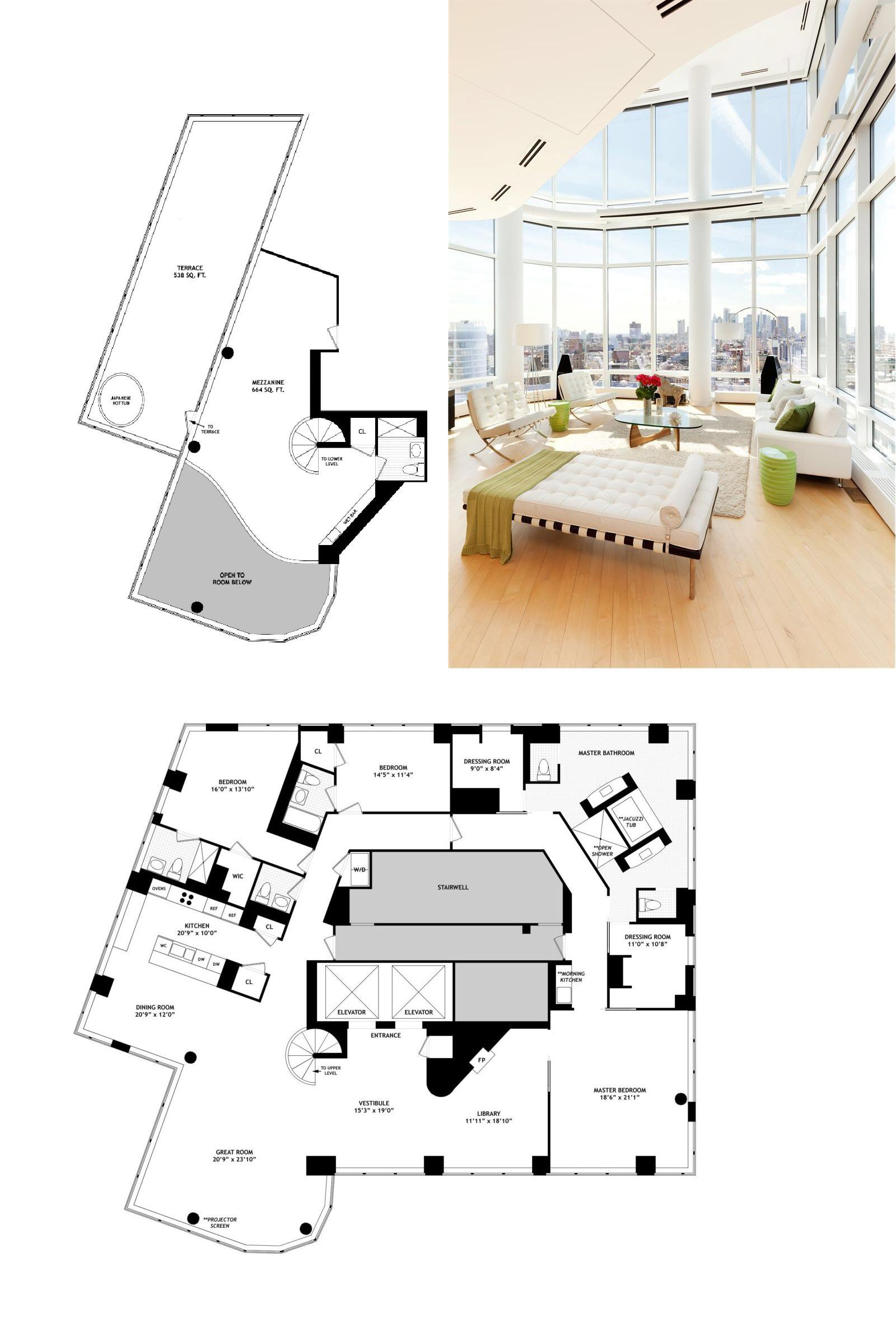 10 Million Duplex Penthouse In Astor Place Tower House Plans Penthouse Pent House