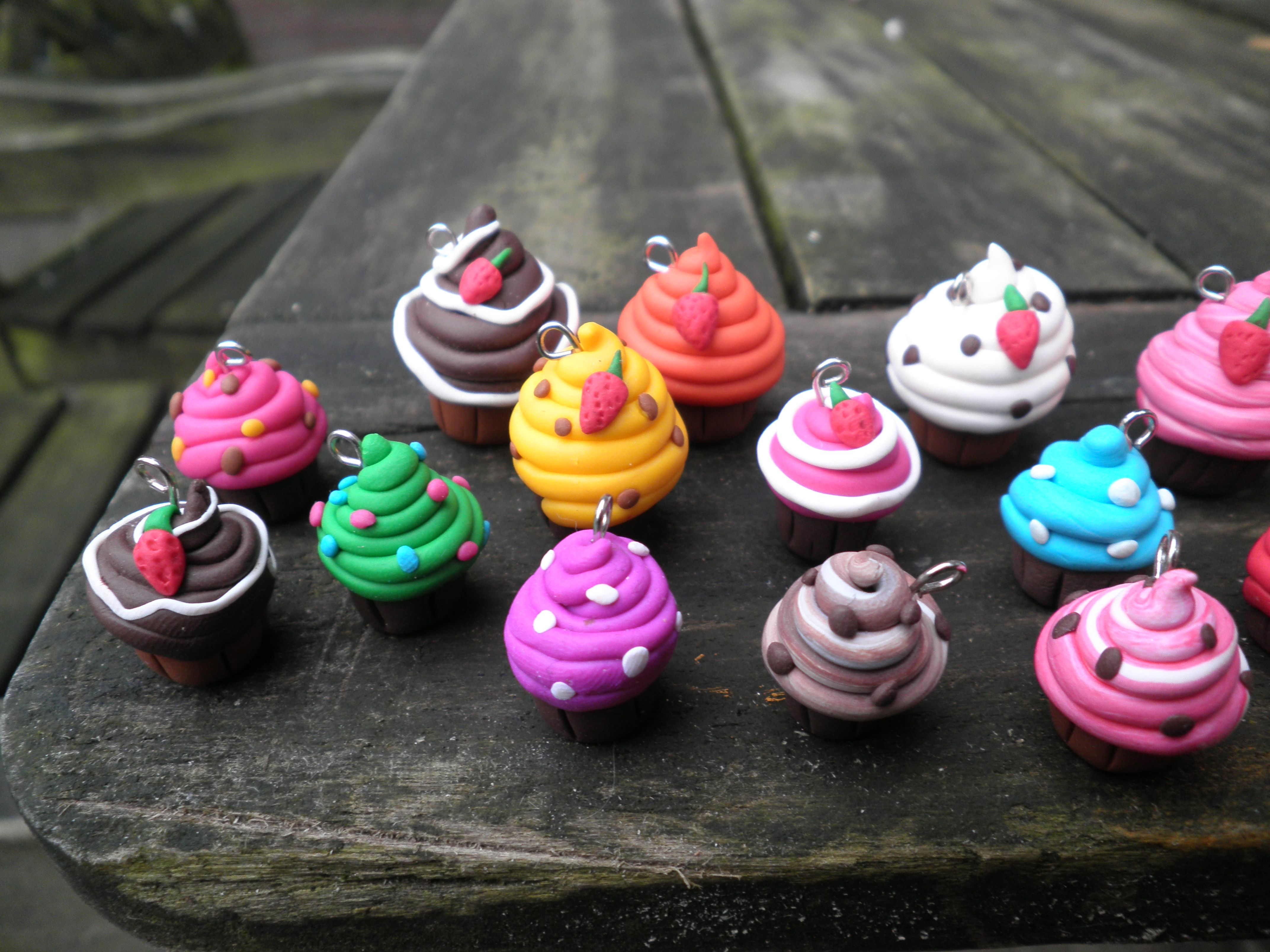 Home made cupcakes with fimo clay!
