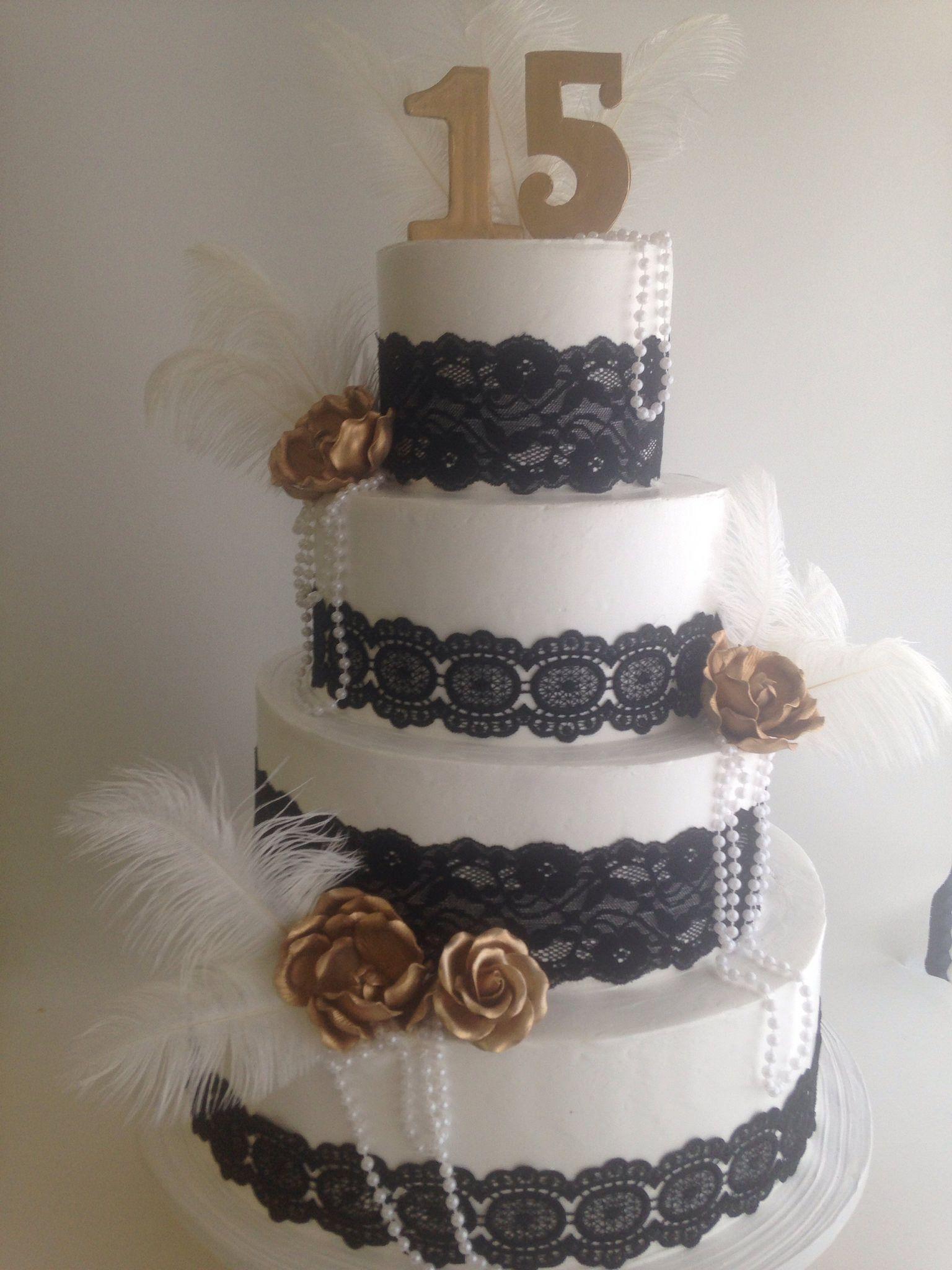 Great Gatsby themed cake 3762