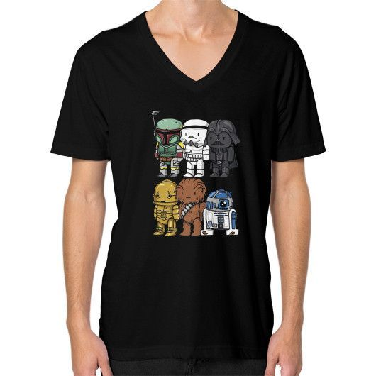 Star Wars Cartoons V-Neck (on man)