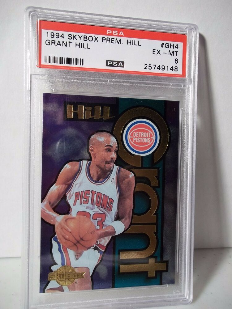 1994 skybox grant hill rc psa exmt 6 basketball card gh4