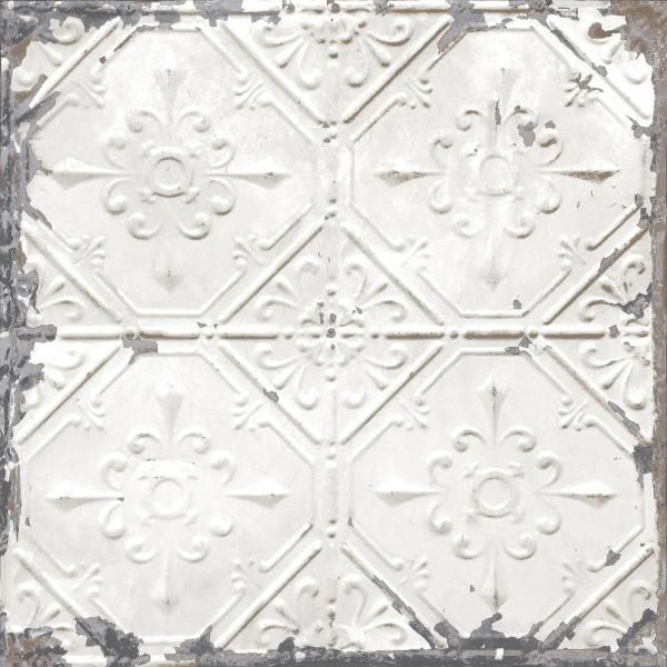 Nuwallpaper Vintage Tin Tile Peel And Stick Vinyl Strippable Wallpaper Covers 30 75 Sq Ft Nus2213 The Home Depot Vintage Tin Tiles Antique Tin Ceiling Tile Tin Ceiling