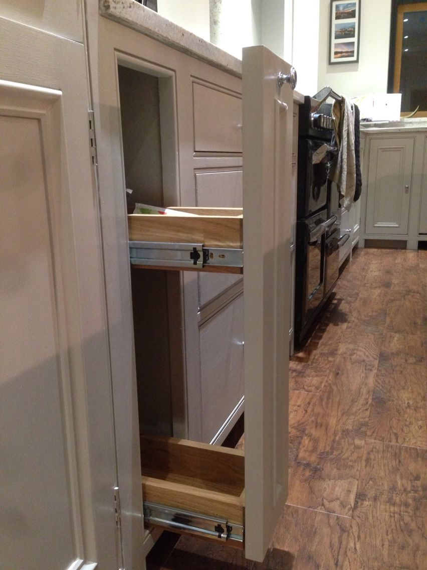 Best Handmade Kitchen Small Pullout Unit In Farrow Ball 640 x 480
