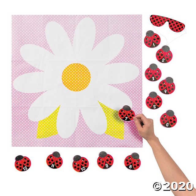 Pin the Ladybug on the Flower Party Game in 2020 (With
