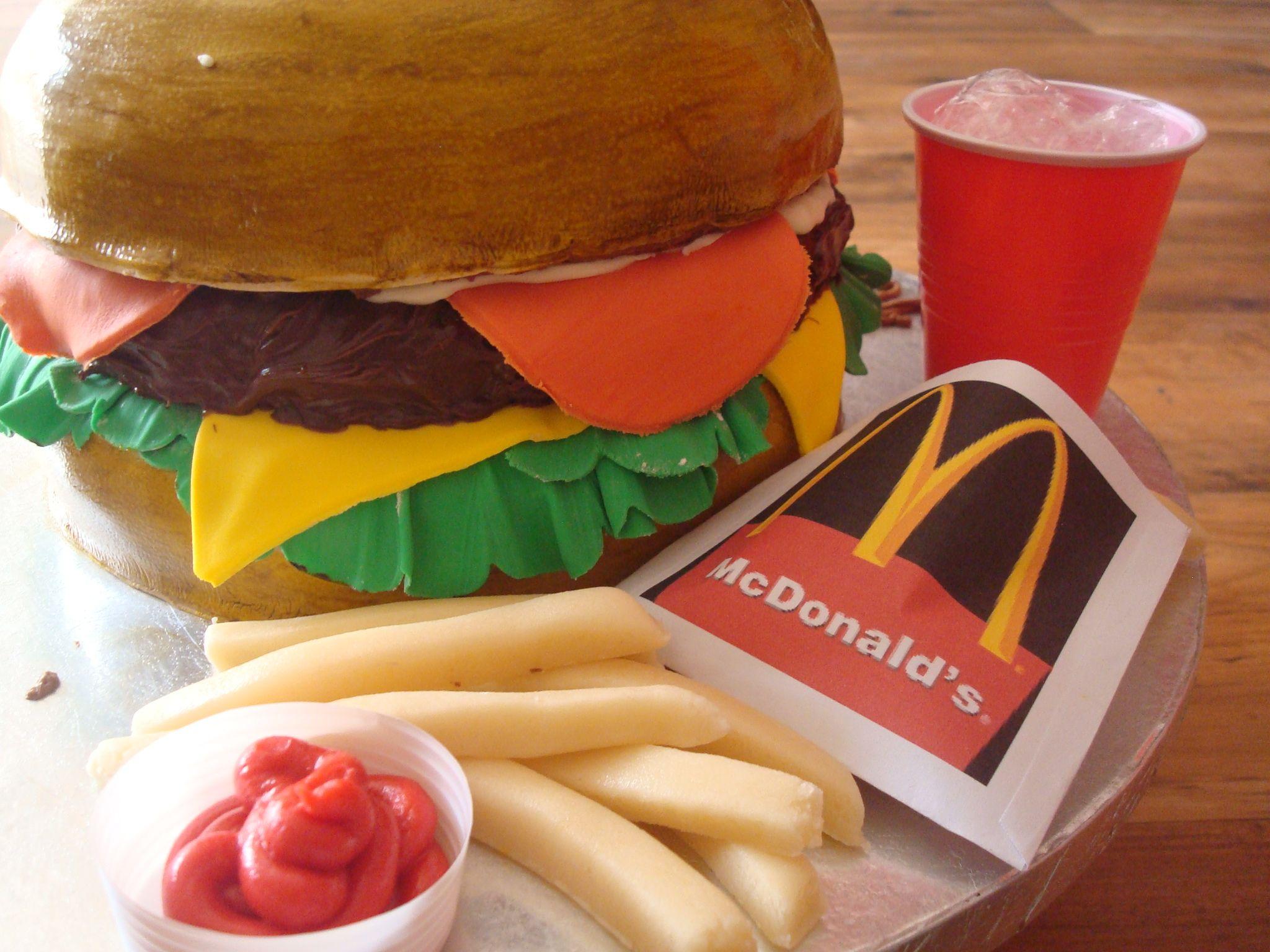 Burger Cake for a Burgerholic :)