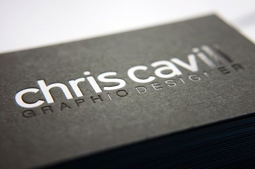 62 Cool Examples Of Big Typography In Business Card Design Embossed CardsBlack
