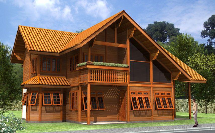 Casas pr casas pr fabricadas em madeira de lei for Kit casas prefabricadas