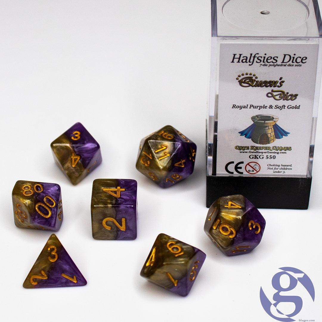 Halfsies Dice Queen/'s Dice GKG550 7 Dice Polyhedral Set