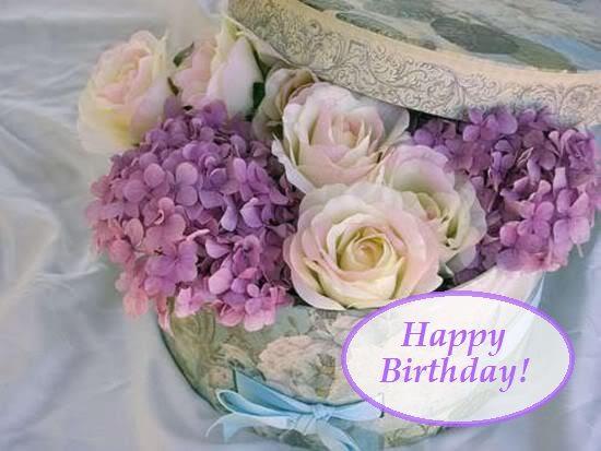 Happy Birthday Flores De Cumpleanos Feliz Cumpleanos Vintage Postales De Felicitaciones