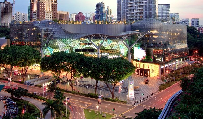 Ion Orchard Architectural Bureau Benoy Location Singapore Shoppingmalls Architecture Modern торговыйц Orchard Road Singapore Panoramic Views Singapore