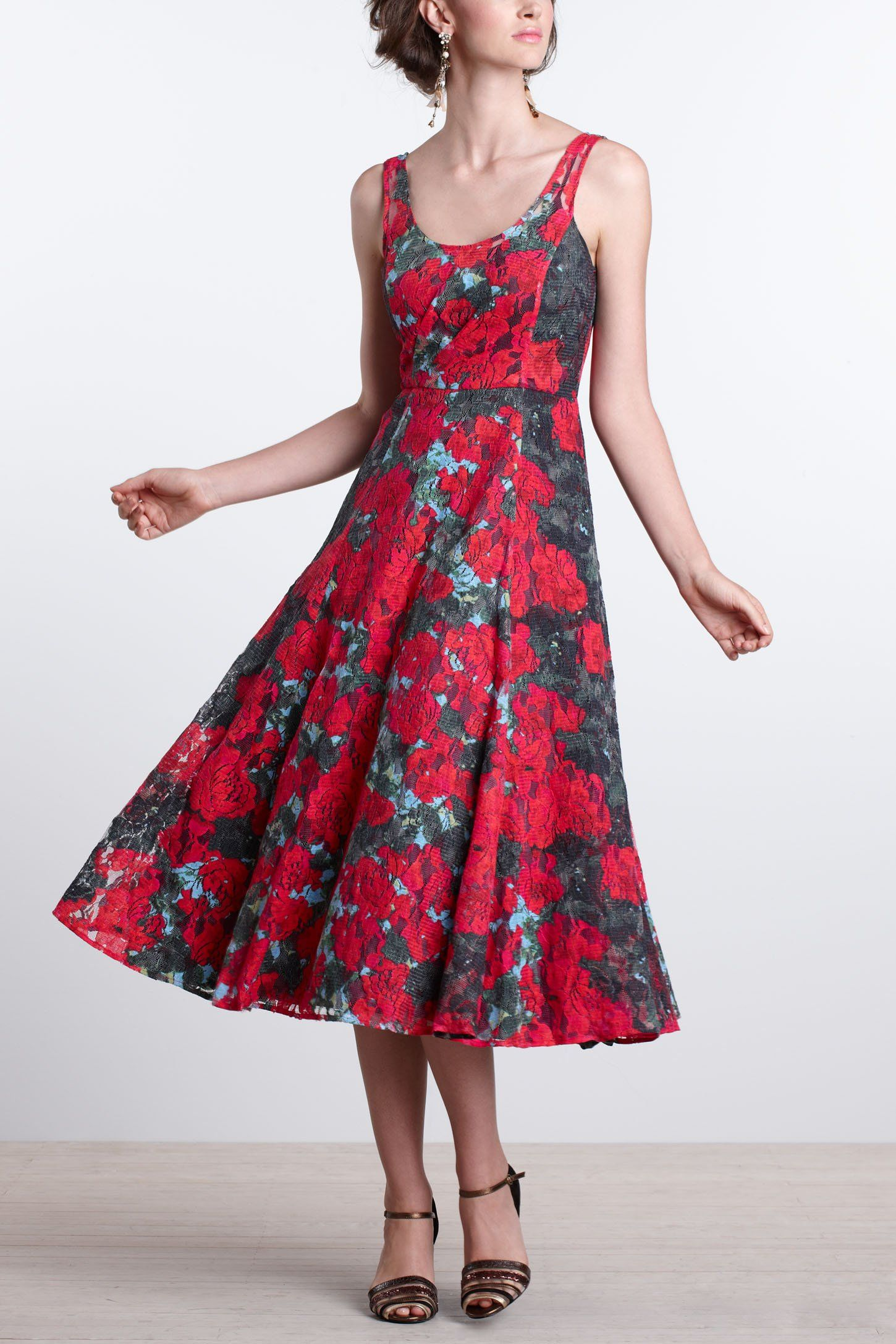38++ Anthropologie red rose dress trends