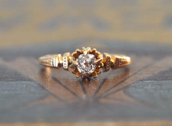 Victorian Diamond Engagement RingVintage Wedding RingEngagement